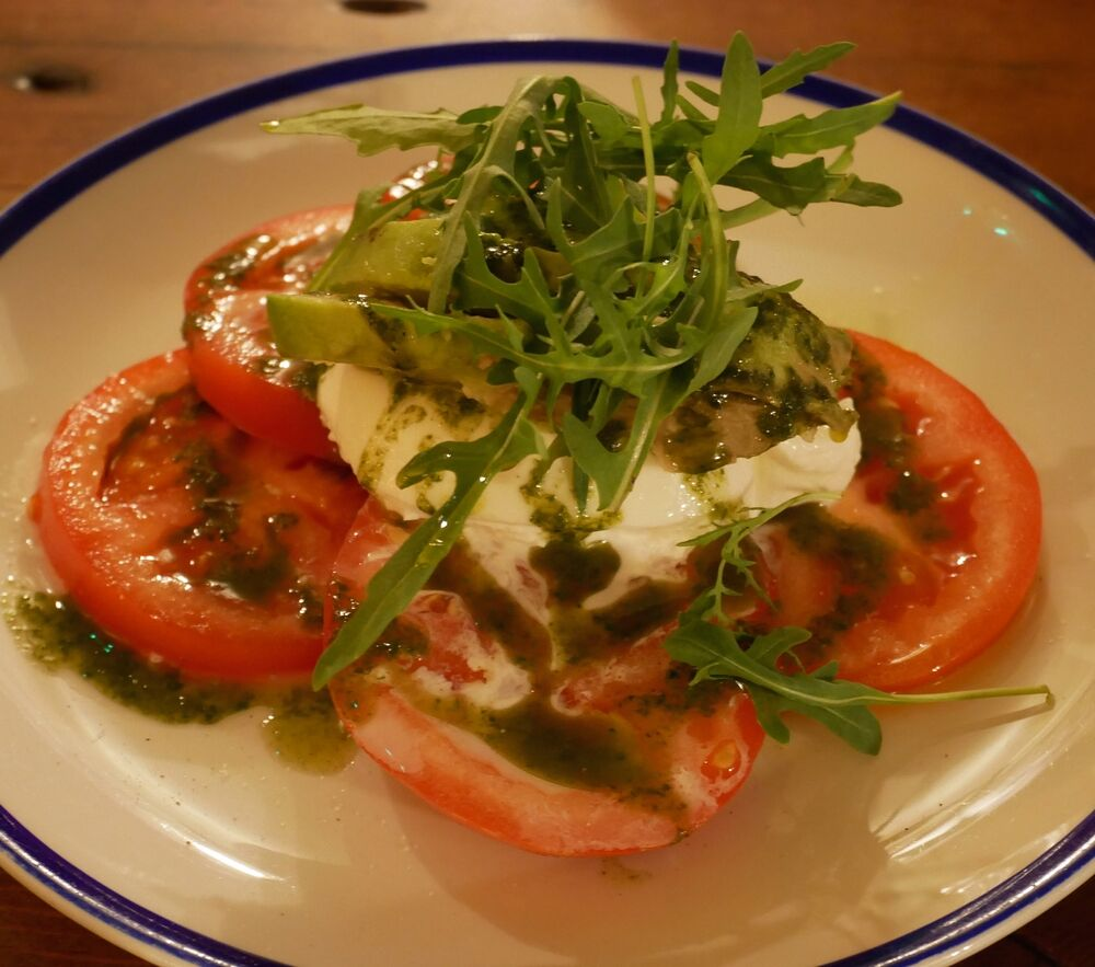 The Abbeville - burratta. avocado and tomato