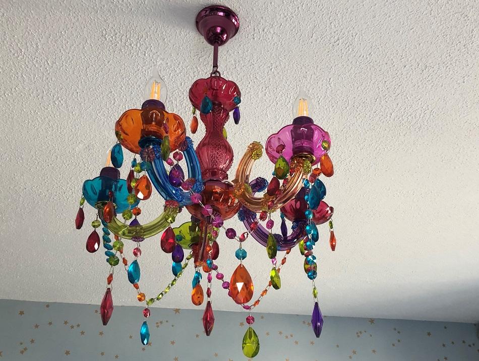 Chandelier in bedroom Stargazy Inn Port Isaac Cornwall