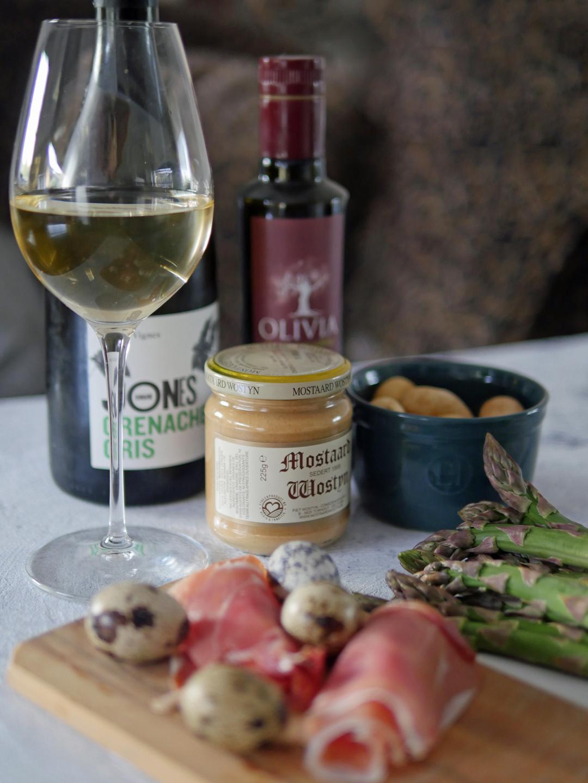 ASparagus Recipe and Domaine Jones Grenache Gris