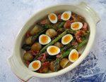 Griddled Asparagus with Quail Eggs