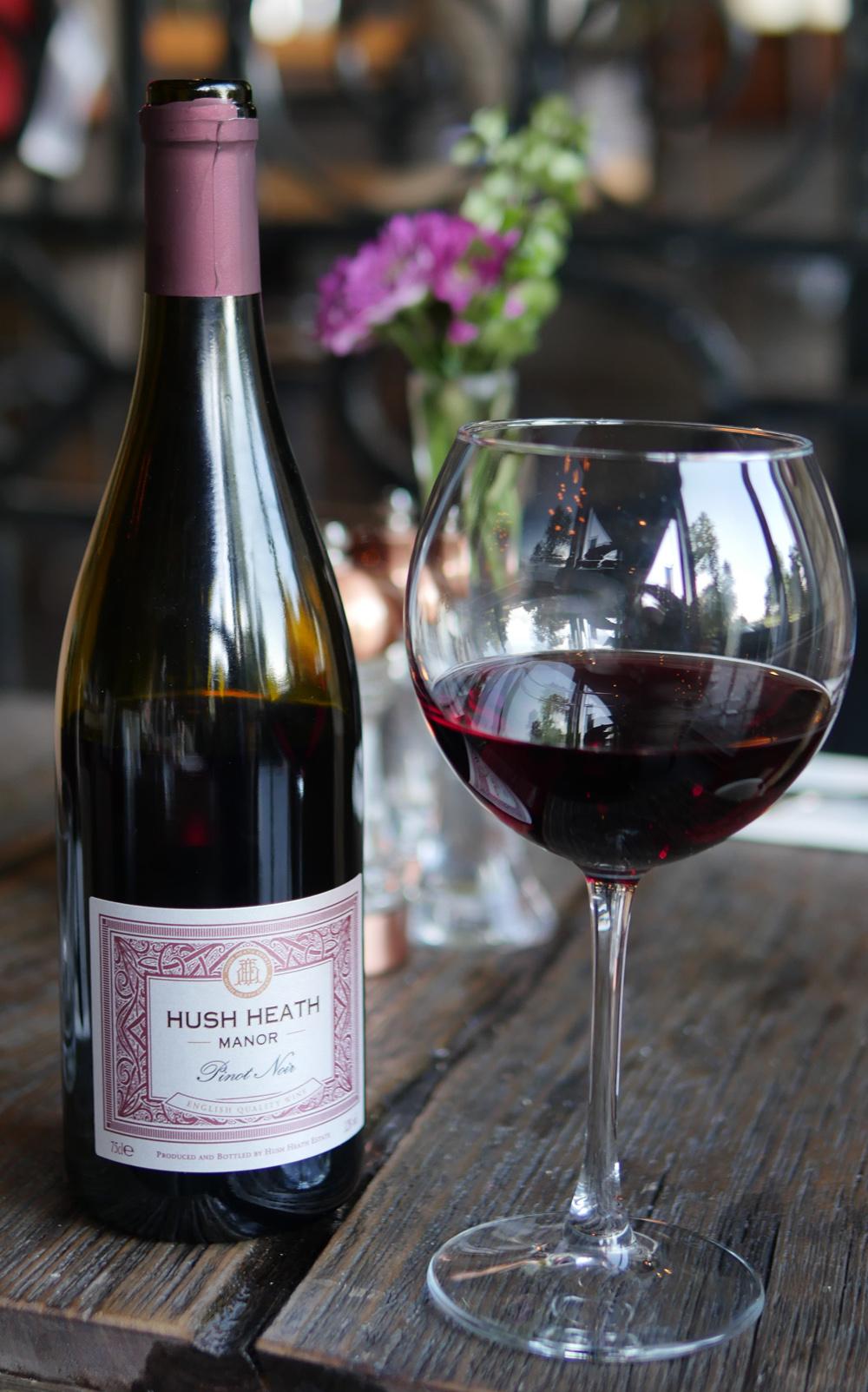 Hush Heath English Pinot Noir at Parks Edge Bar and Kitchen