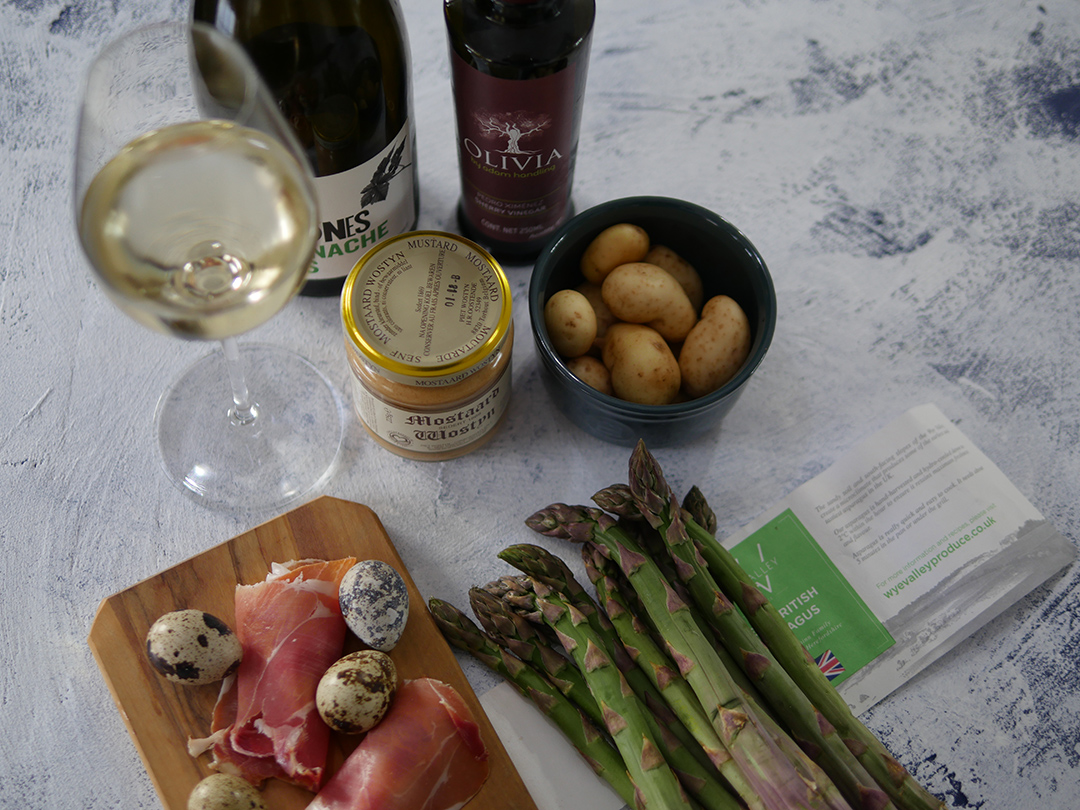 Ingredients - Asparagus with New Potatoes and Quail Eggs