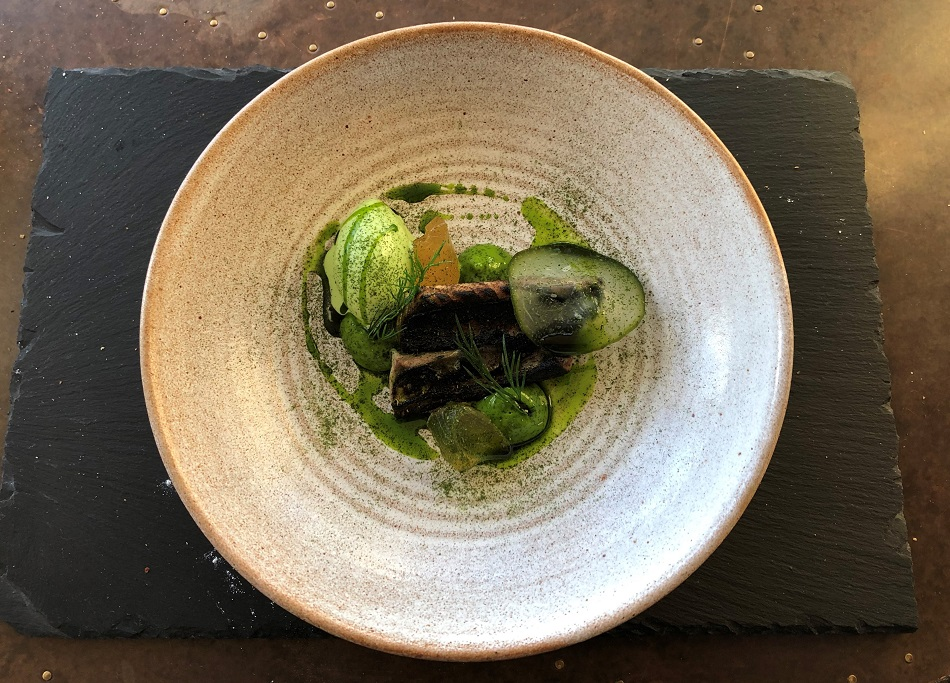 Cornish Mackerel with cucumber and dill Stargazy Inn Port Isaac Cornwall
