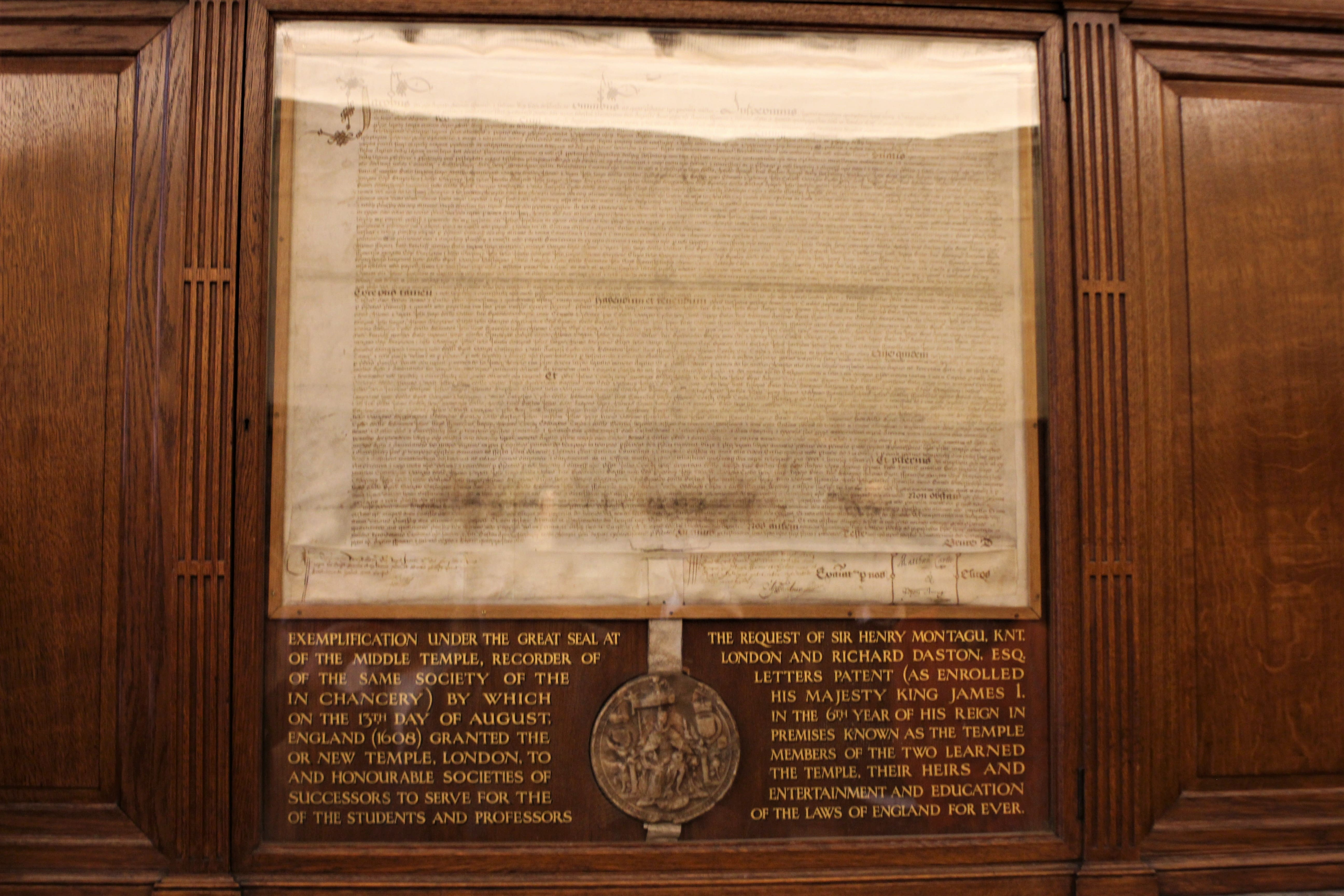 Middle Temple Agreement