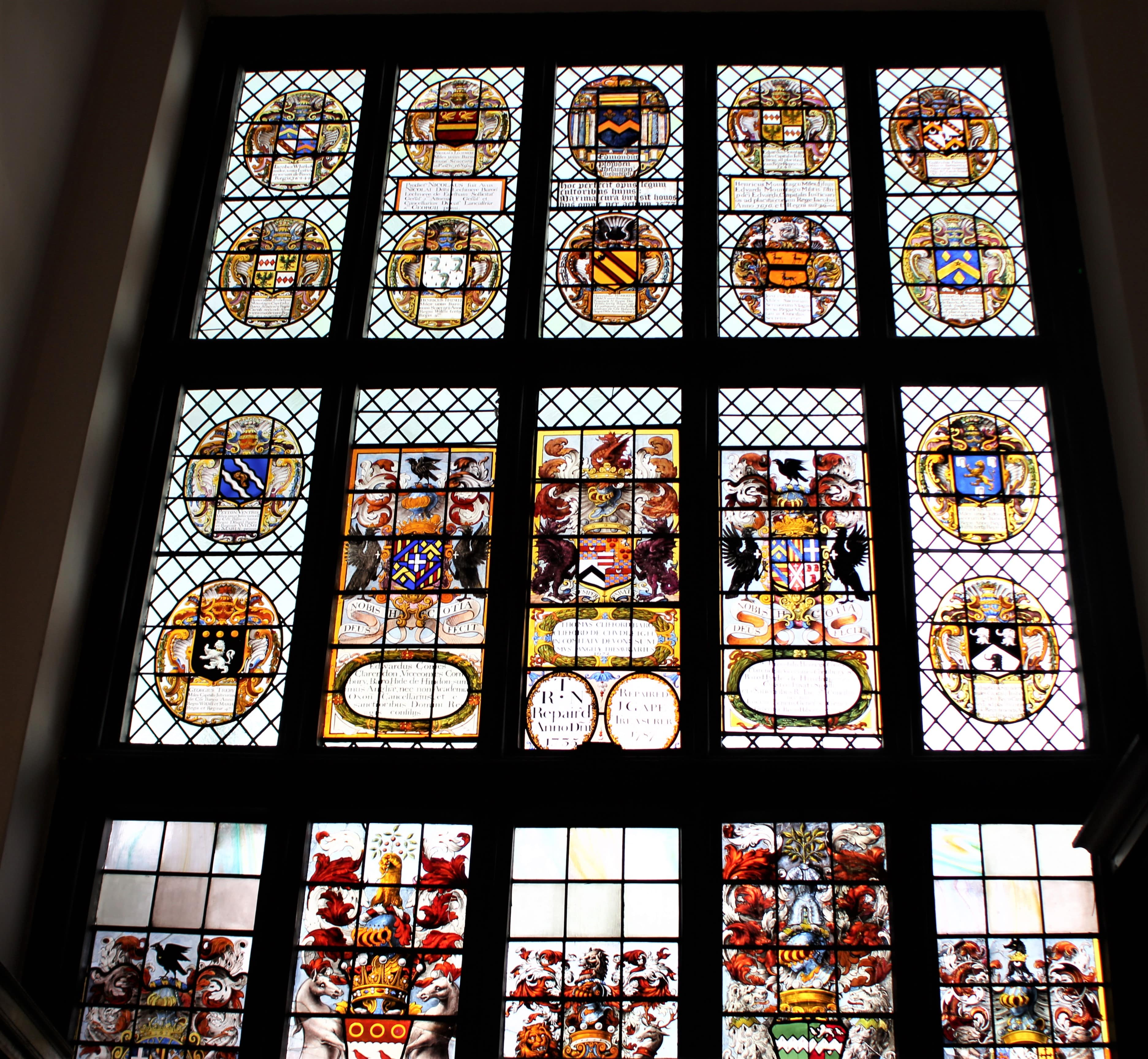 Middle Temple Hall windows