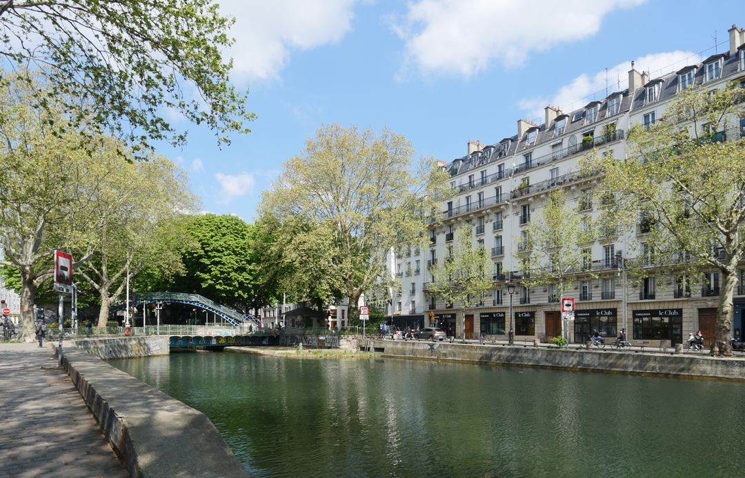 Paris Food Tour - St Martin Canal Architecture