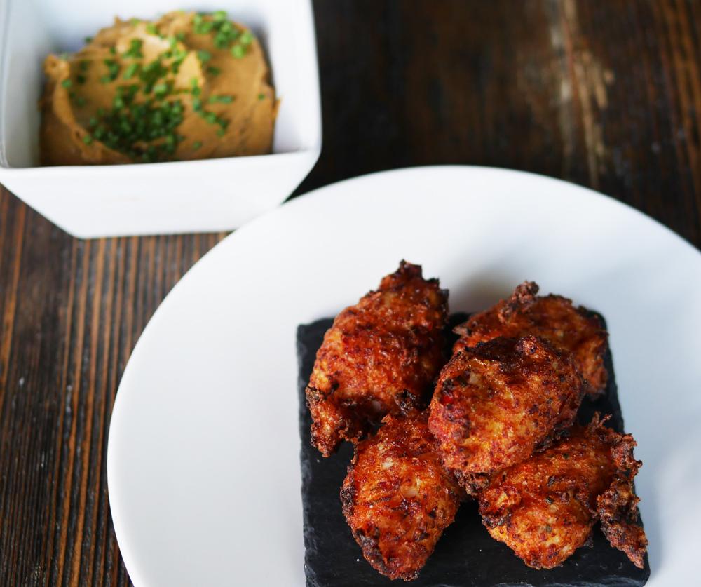 Parks Edge Kitchen starter - saltfish dumplings
