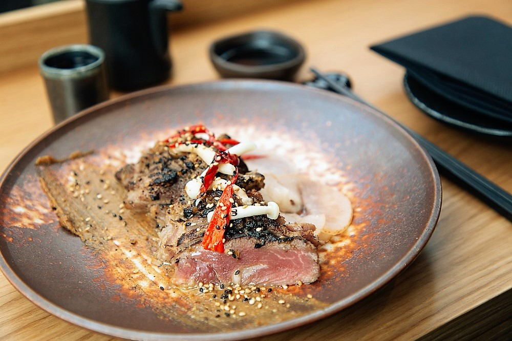 Wood Flamed Iberico Pork at Japanese izakaya-style Robata in Soho