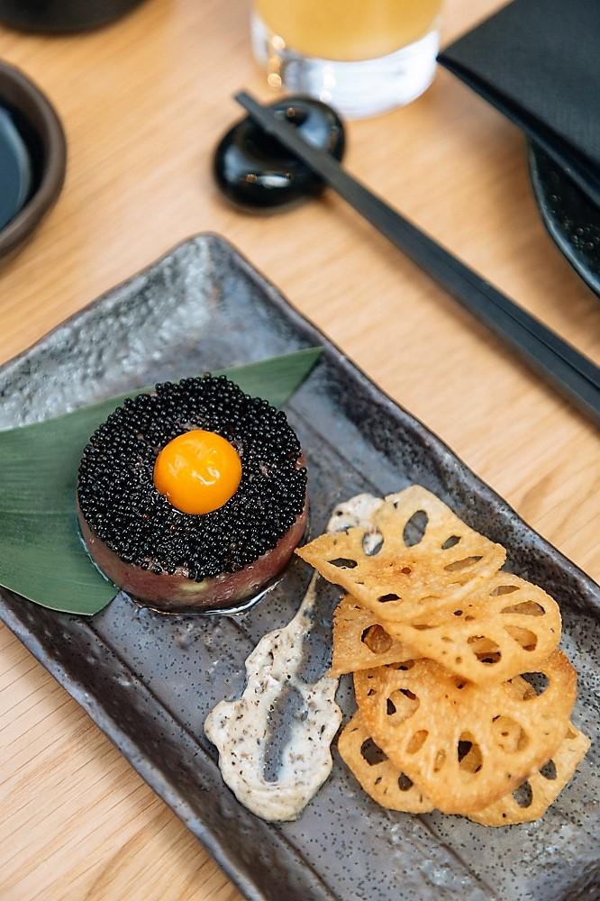 Tuna Tartare in Soho - Japanese izakaya-style restaurant