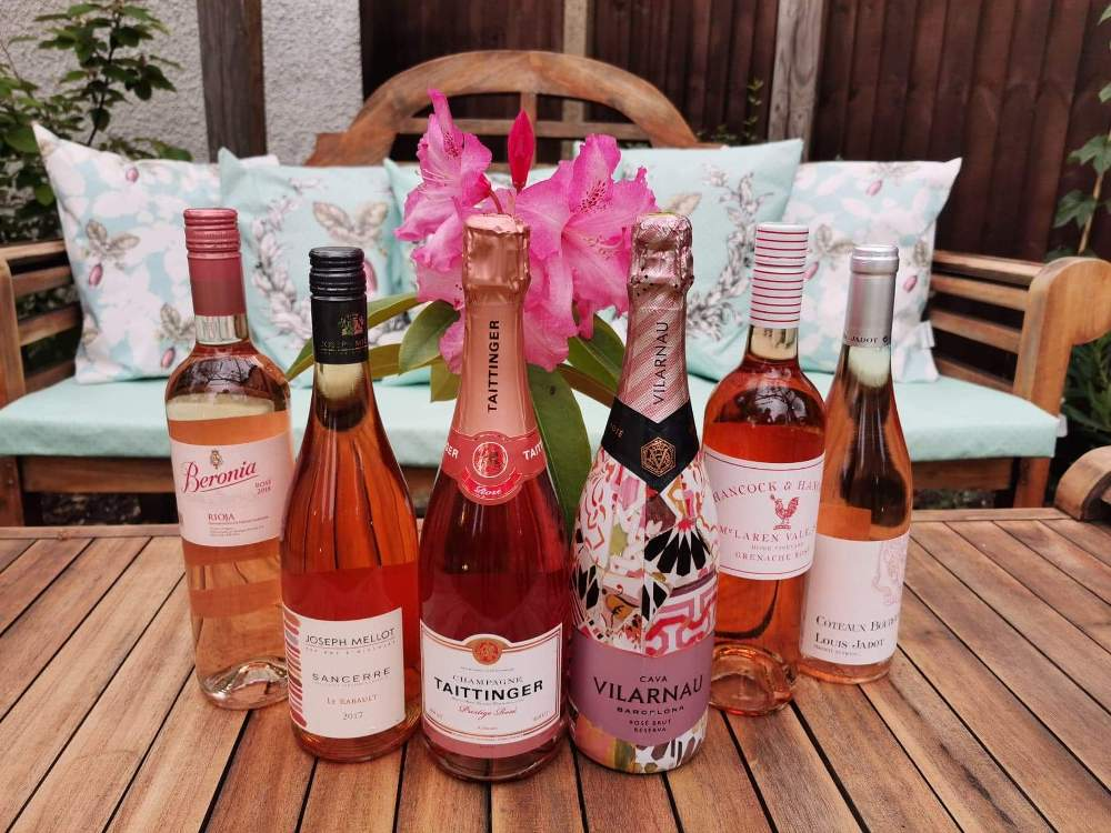 Selection of rosé wine