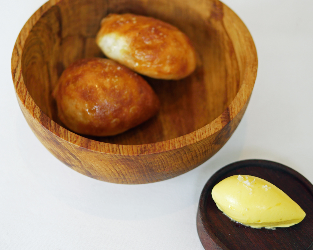 Trinity Clapham Sour Dough Bread Rolls and Home Made Butter