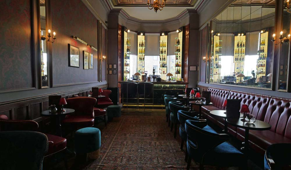 Bar at the Bonham Hotel Edinburgh