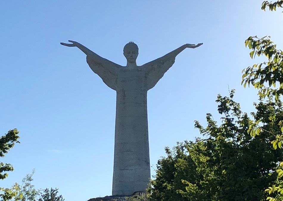 Christ the Redeemer statue Maratea Basilicata Italy
