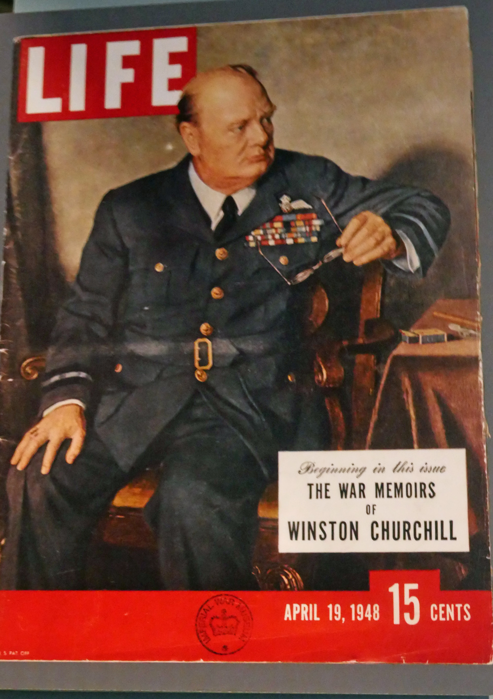Churchil on the cover of life magazine