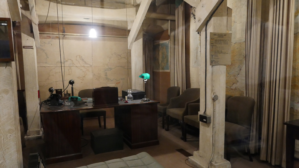 Churchill War Rooms - Churchills rooms with curtains