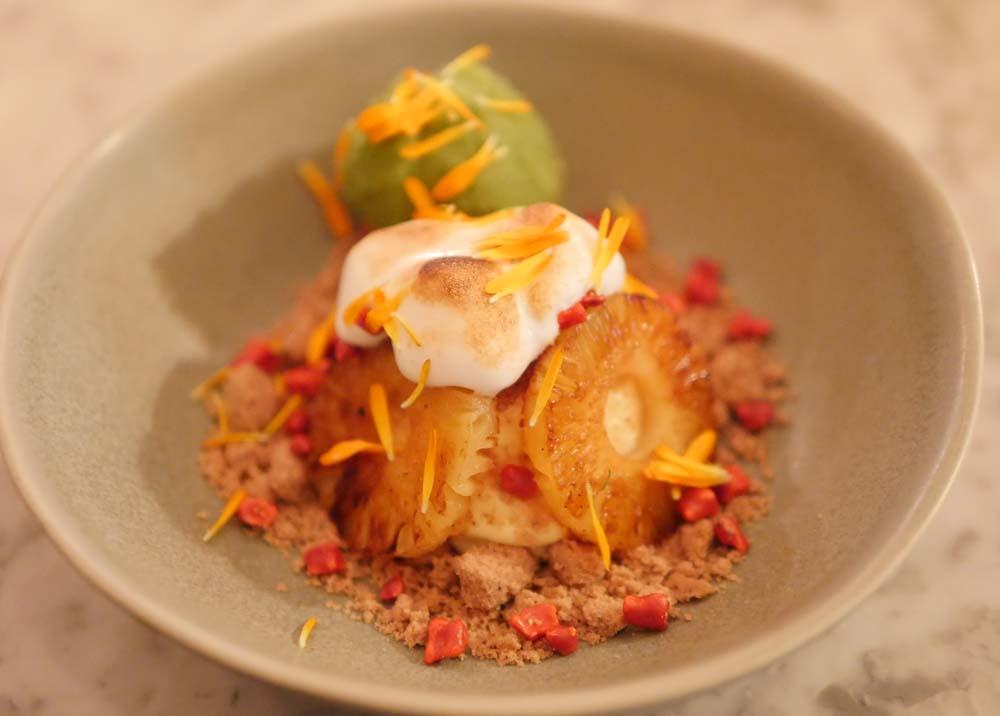 Pineapple Dessert Twist Restaurant Marylebone