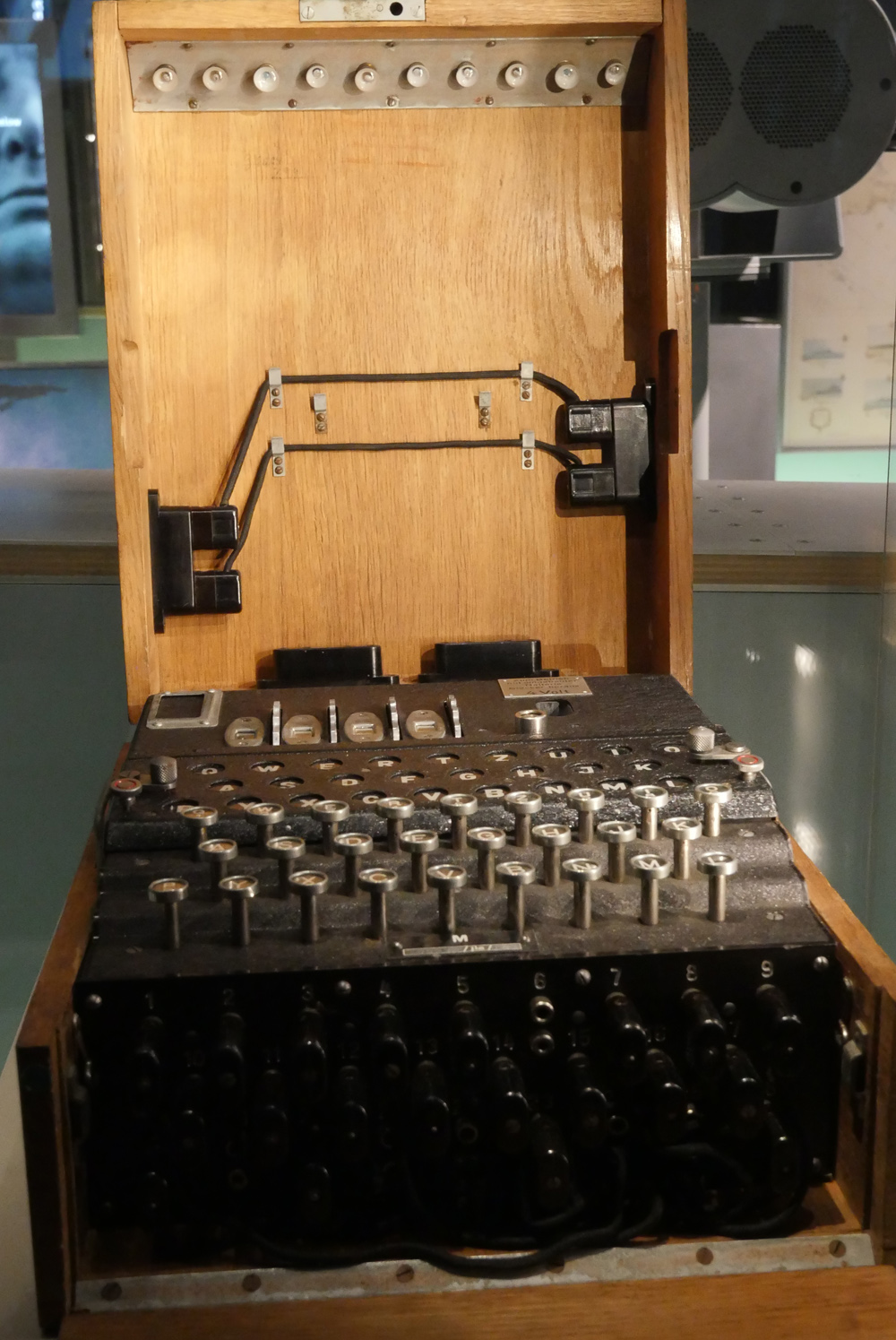 Enigma Machine at the Churchill Museum
