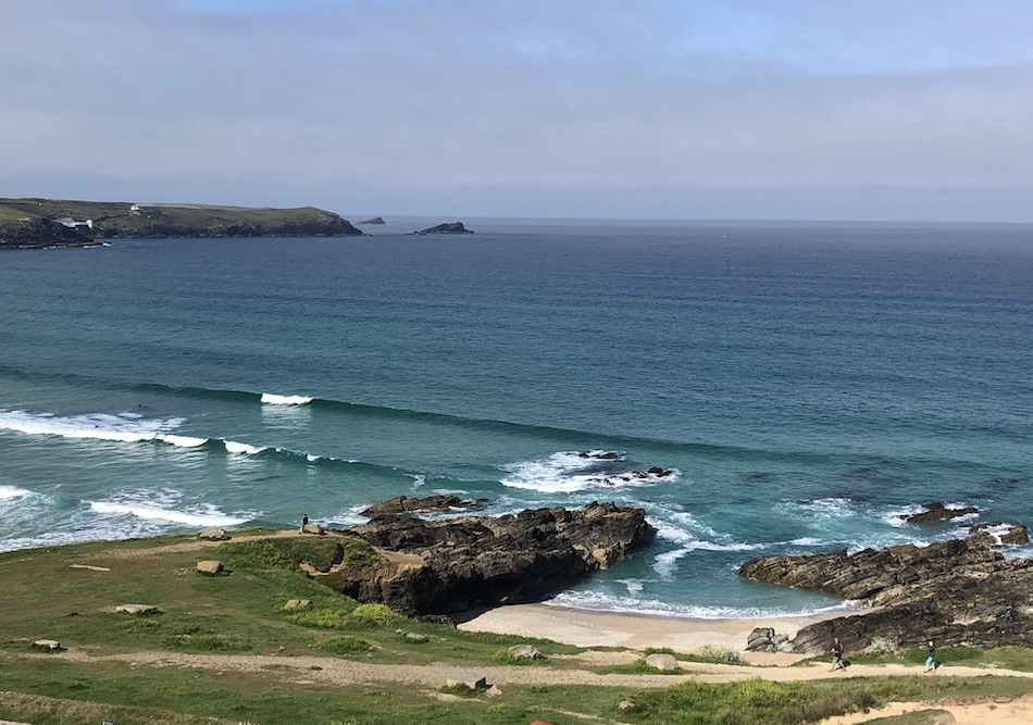 Fistral Beach from The Headland Hotel Newquay Cornwall