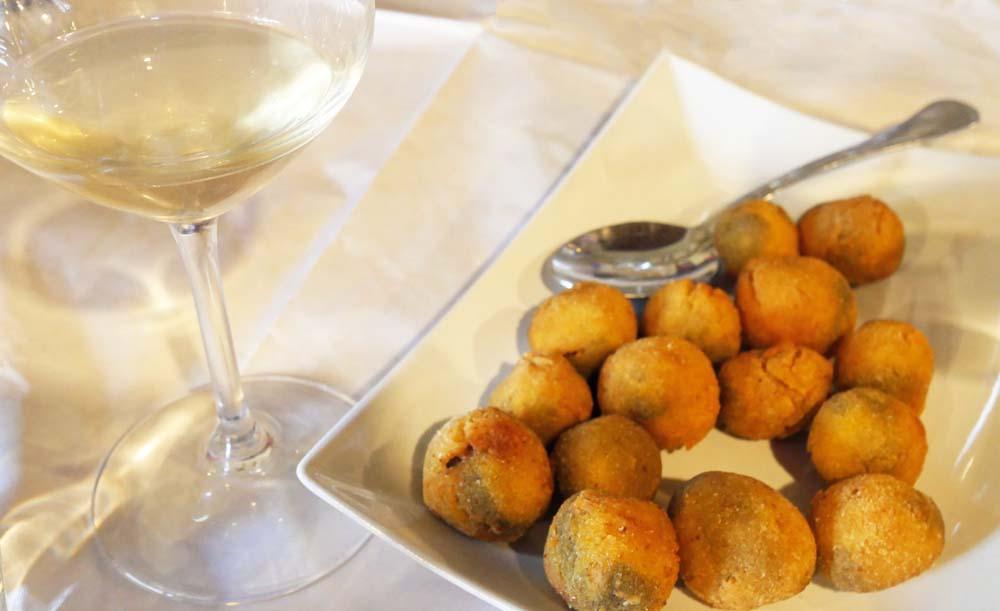 Fried Ascolana Olives at Casale Vitali