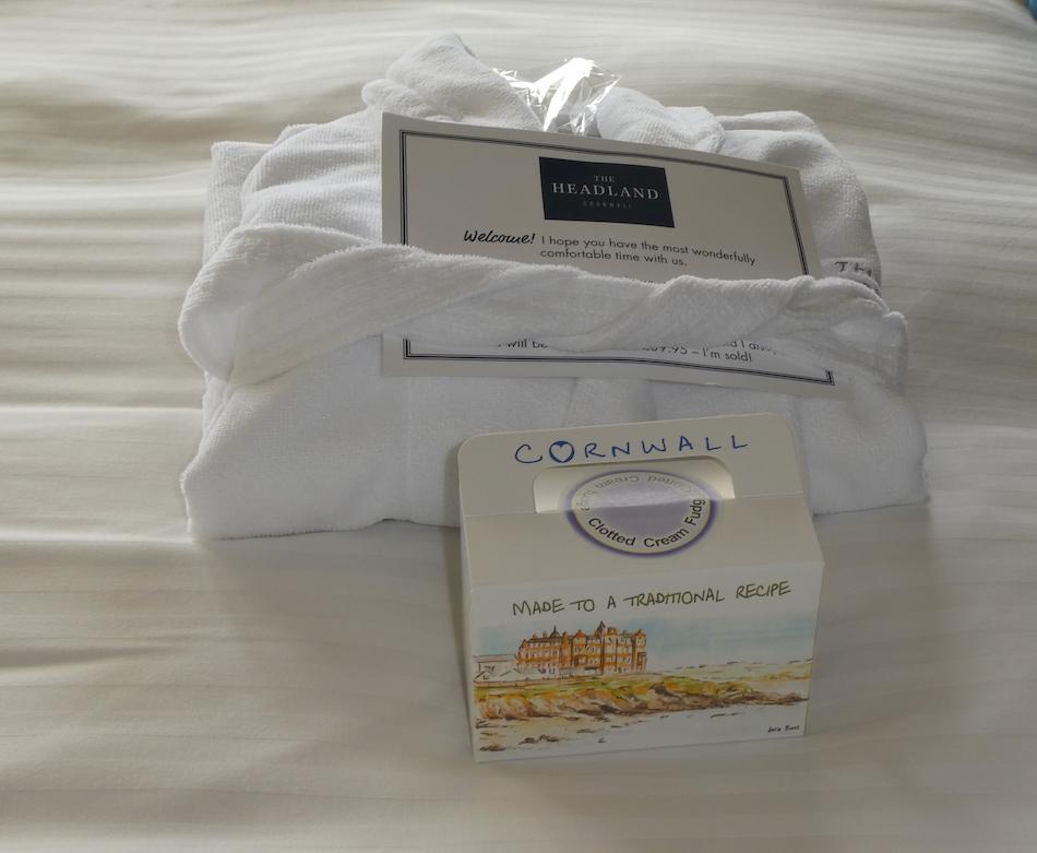 Cornish fudge in suite at Headland