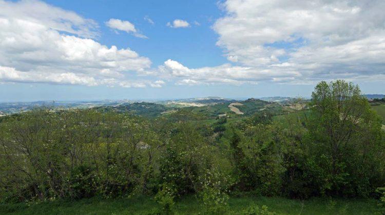 Hotel leone view over Marche, Italy