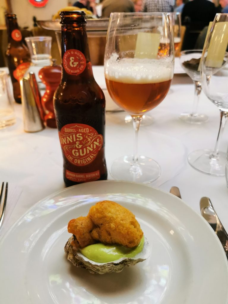 Beer Battered Oysters with Innis and Gunn beer!