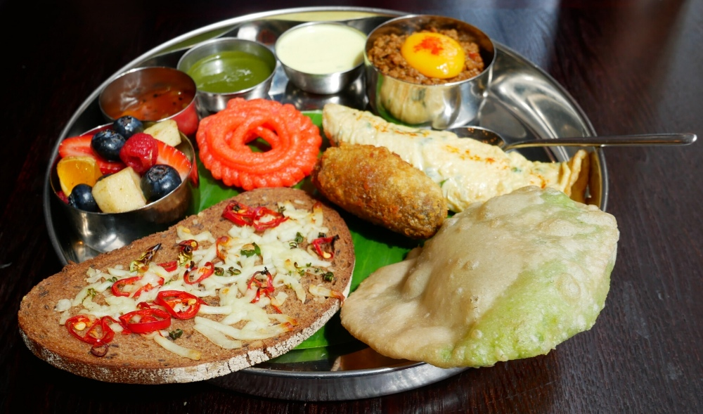 Meat Thali bottomless brunch at Little Kolkata Indian Restaurant in Covent Garden