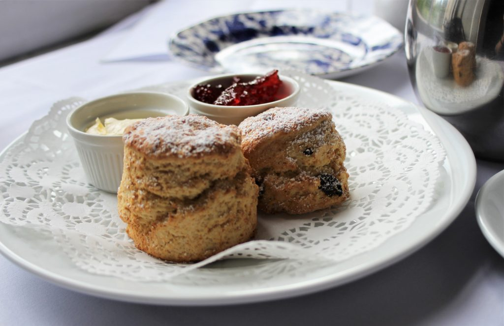 Manor Country House Hotel scones for afternoon tea