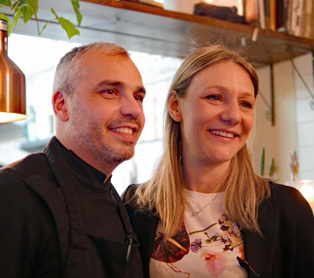 Twist Kitchen Marylebone - Guilia and Eduardo Tuccillo, owners and proprietors
