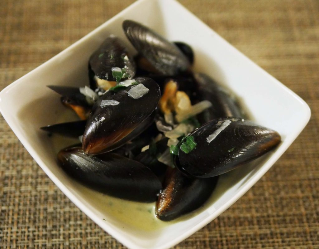Mussels at Hotel Leone Wine Tasting Dinner
