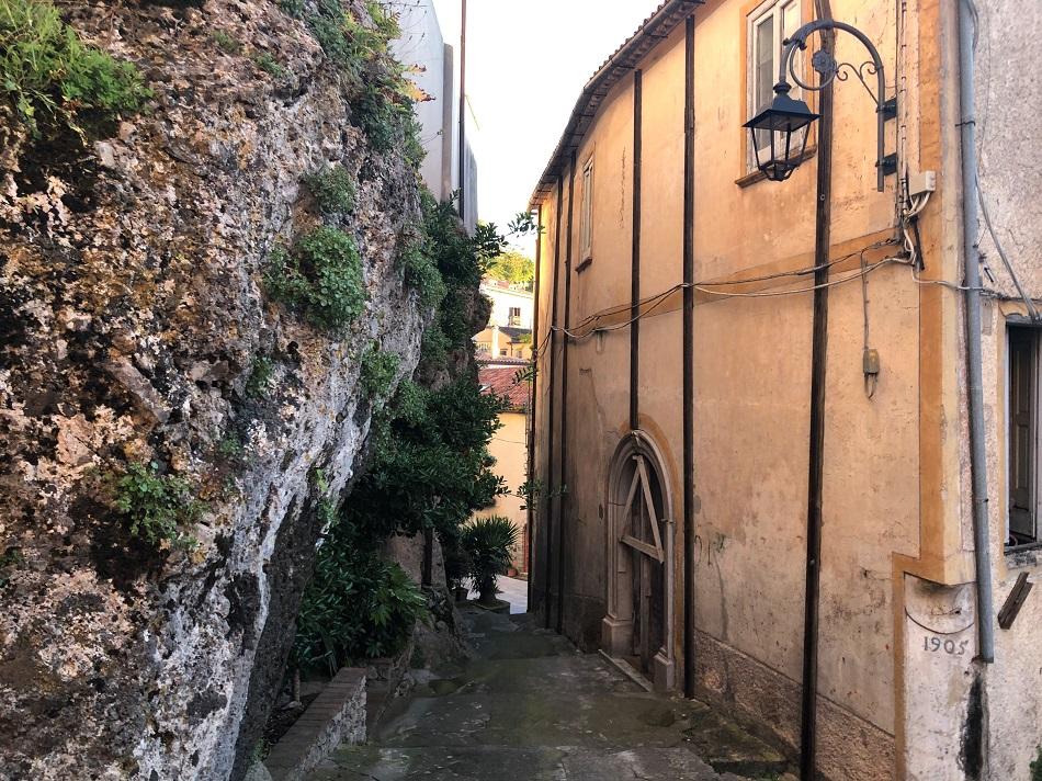 Narrow street Old town Maratea Basilicata Italy