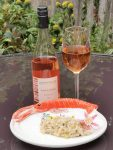 2017 Sancerre Rose with crab and fennel risotto