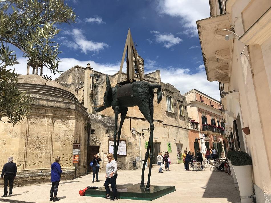 Statue inspired by Dali Matera Basilicata Italy