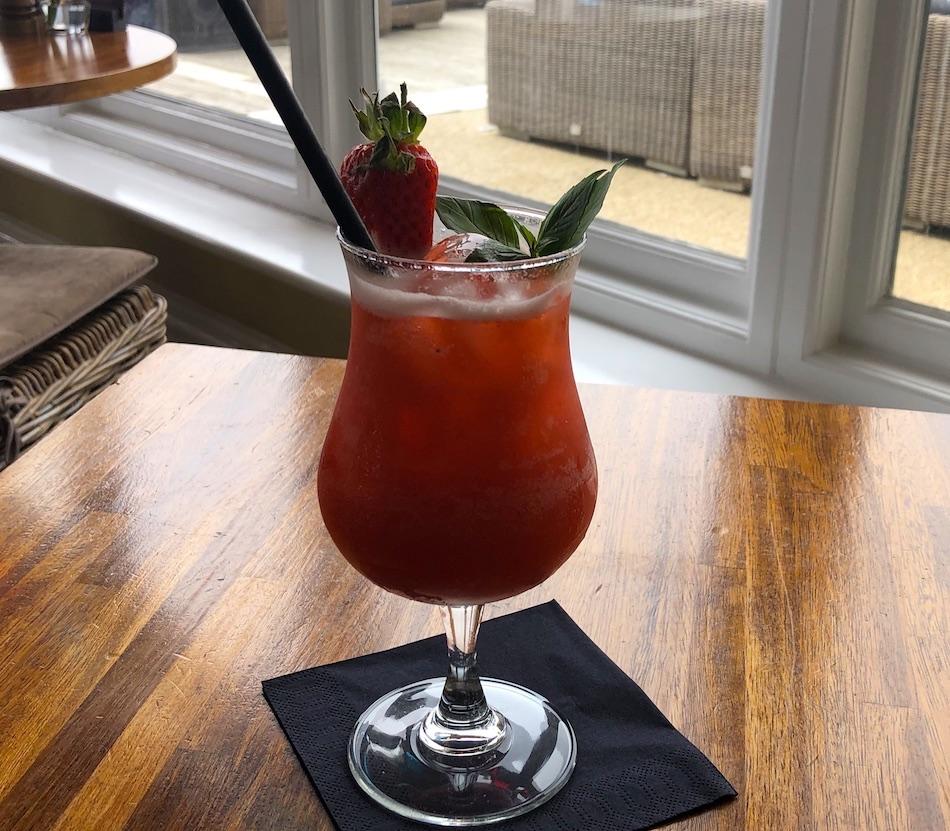 Strawberry and Basil Lemonade in the Terrace Restaurant