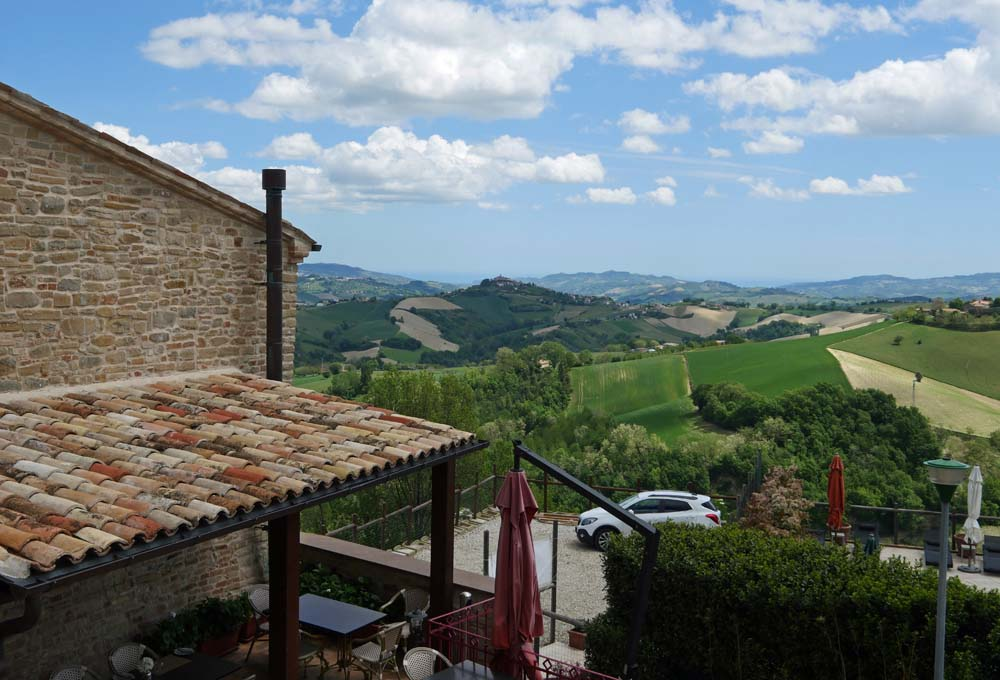View from Terrace - Hotel Leone Marche