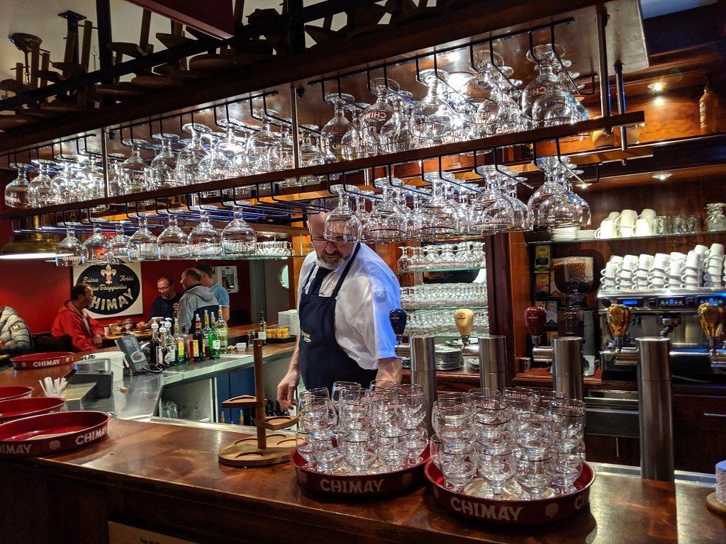 Wallonia Chimay Beer Tasting Auberge de Poteaupre Bar