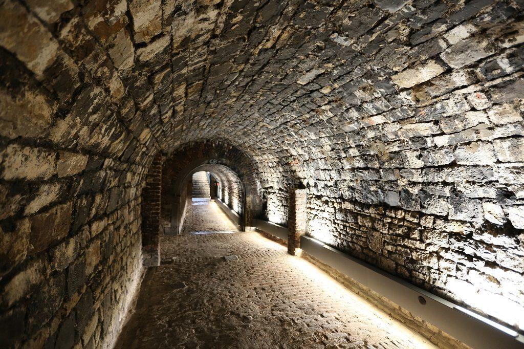 Wallonia Namur Citadel Stone Tunnel