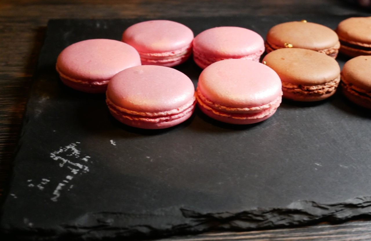 Special pink macaroons at Yauatcha