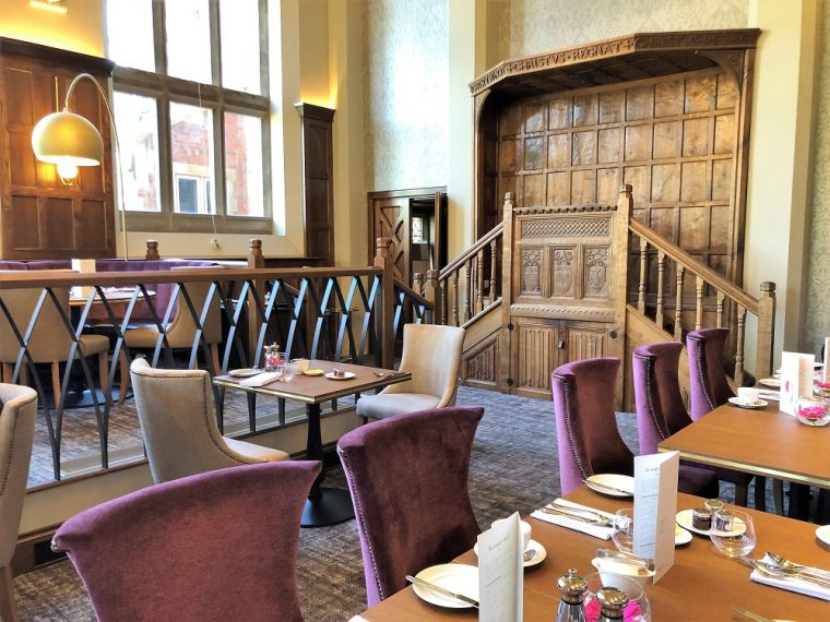 Restaurant at Stanbrook Abbey was the Nuns refectory