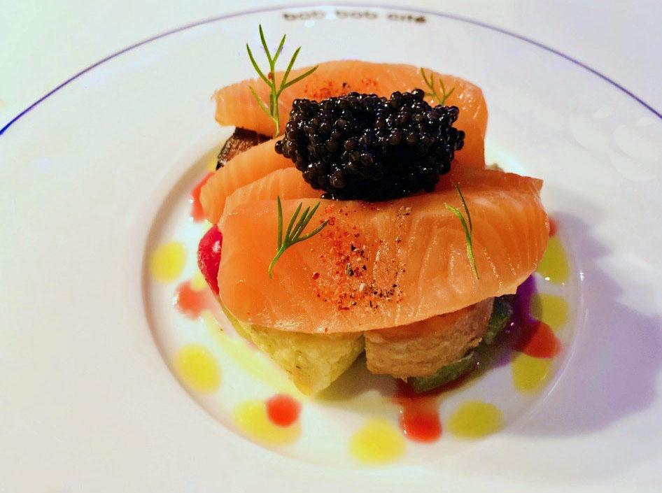 Bob-Bob-Cite-salmon fume with caviar