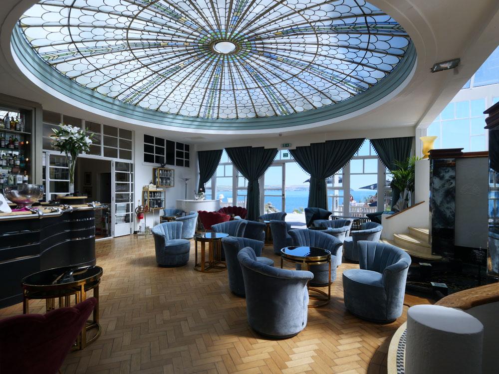 Burgh Island Hotel Palm Court Lounge