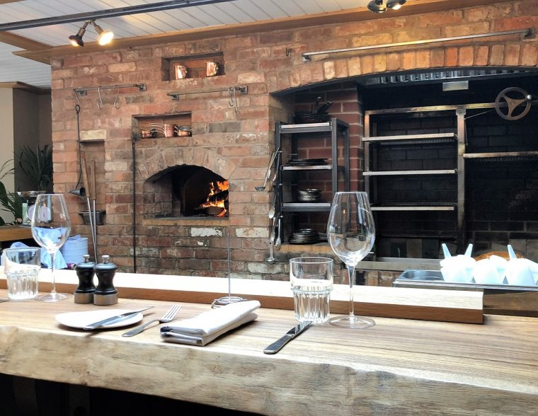 ovens and grill at Woodsman restaurant Stratford upon avon