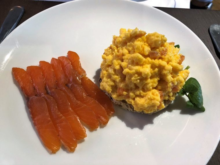 trout and scrambled eggs for breakfast stratford upon avon