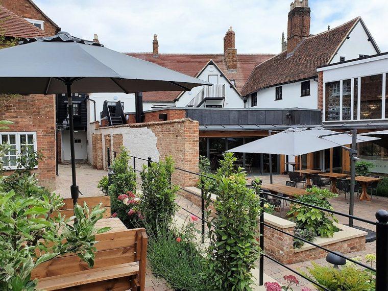 hotel indigo stratford courtyard garden