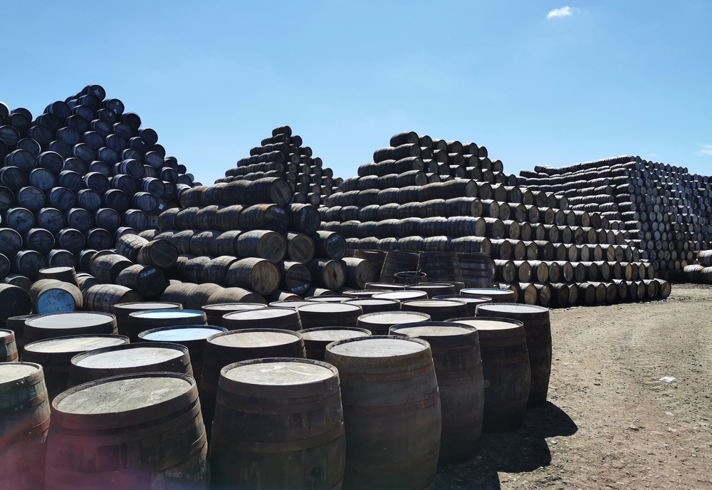 Beer Barrels at Innis and Gunn, Craigellachie