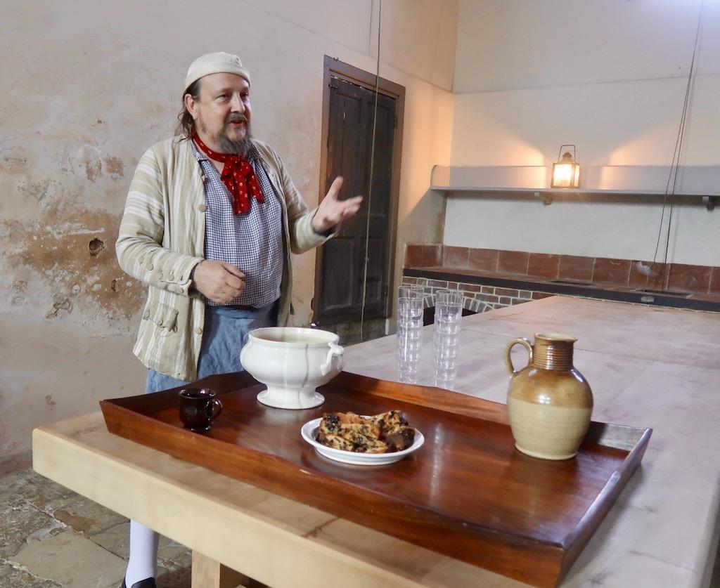 Kew Palace kitchen - chef Mark