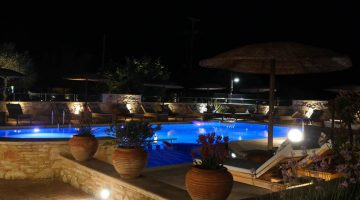 Mistral Hotel Pool at Night