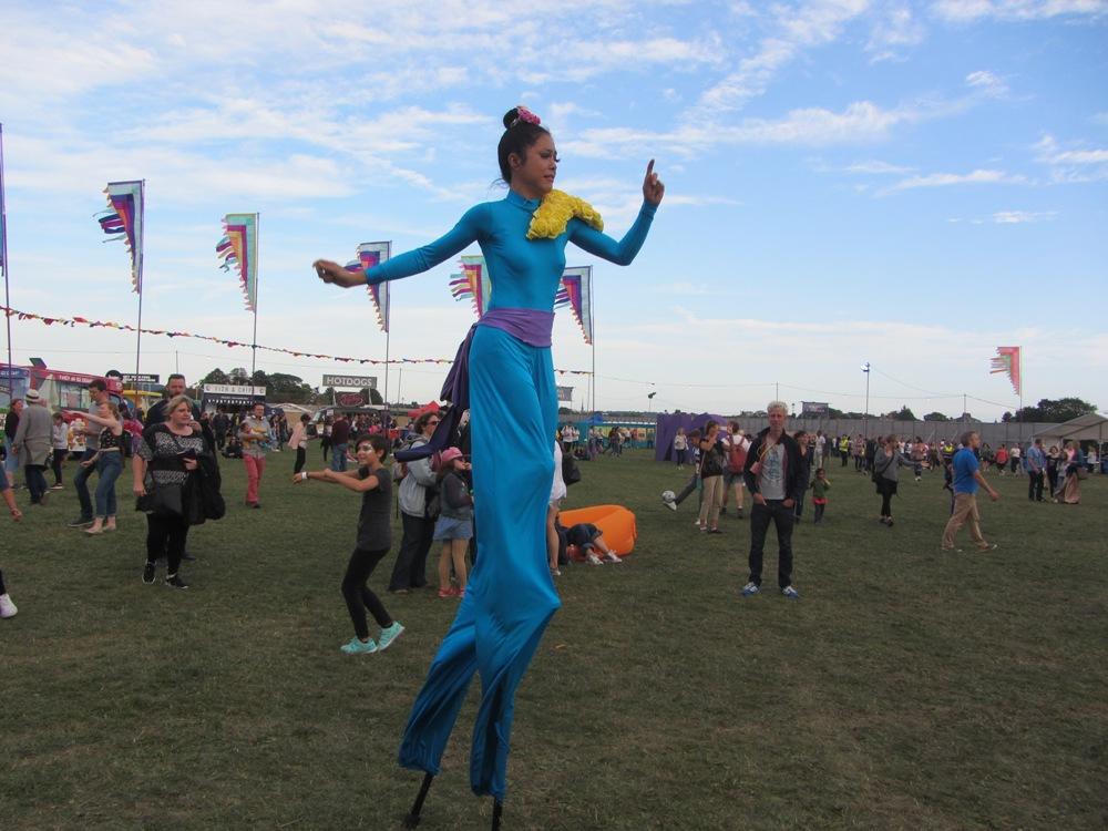 Running stilt walker at On Blackheath