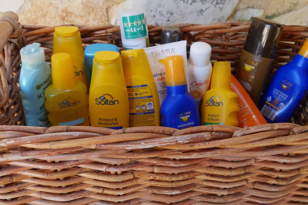 Spare suncreams - Mistral Singles Hotel Crete