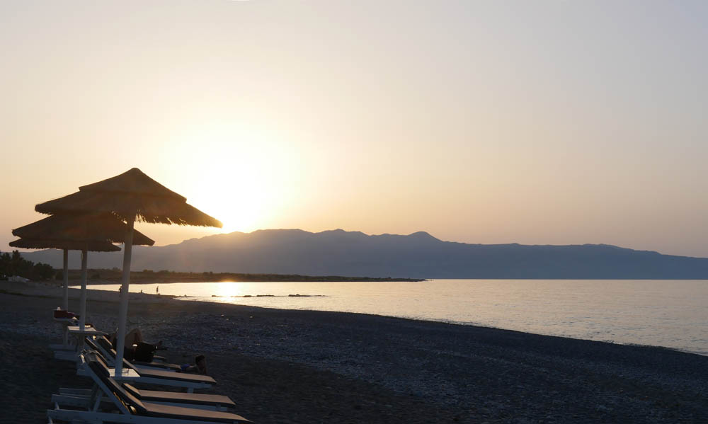 Sunset Malame Beach, Crete